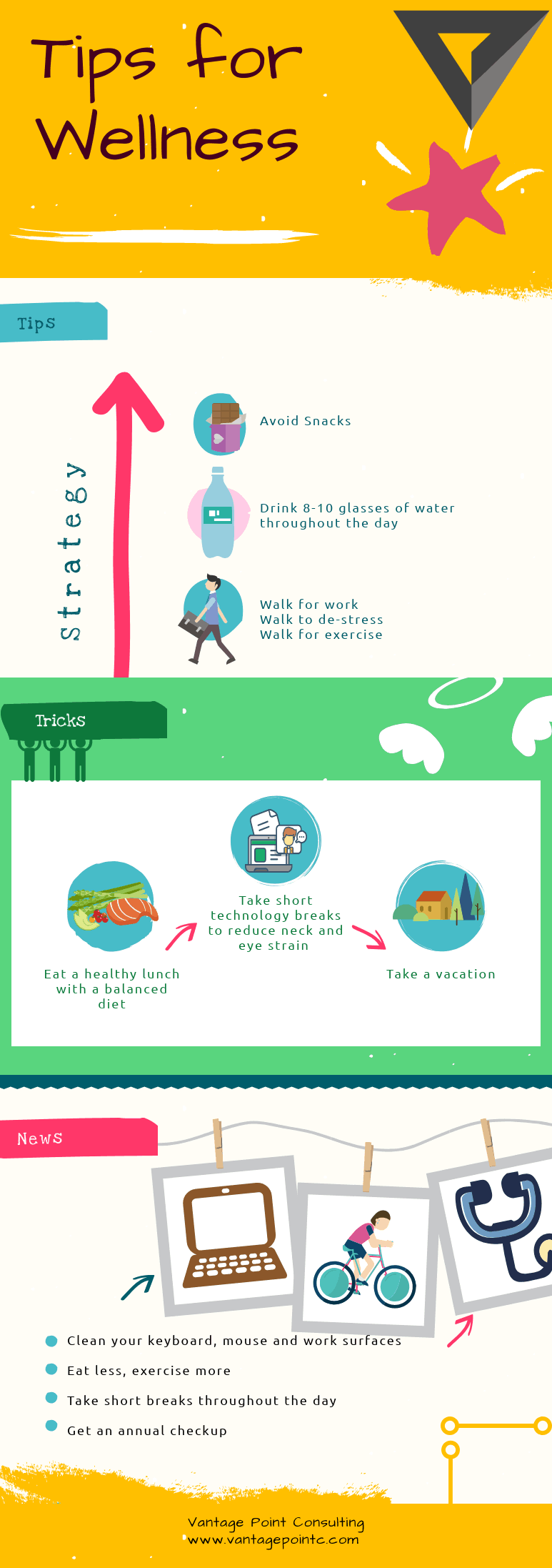 Tips for Wellness infographic