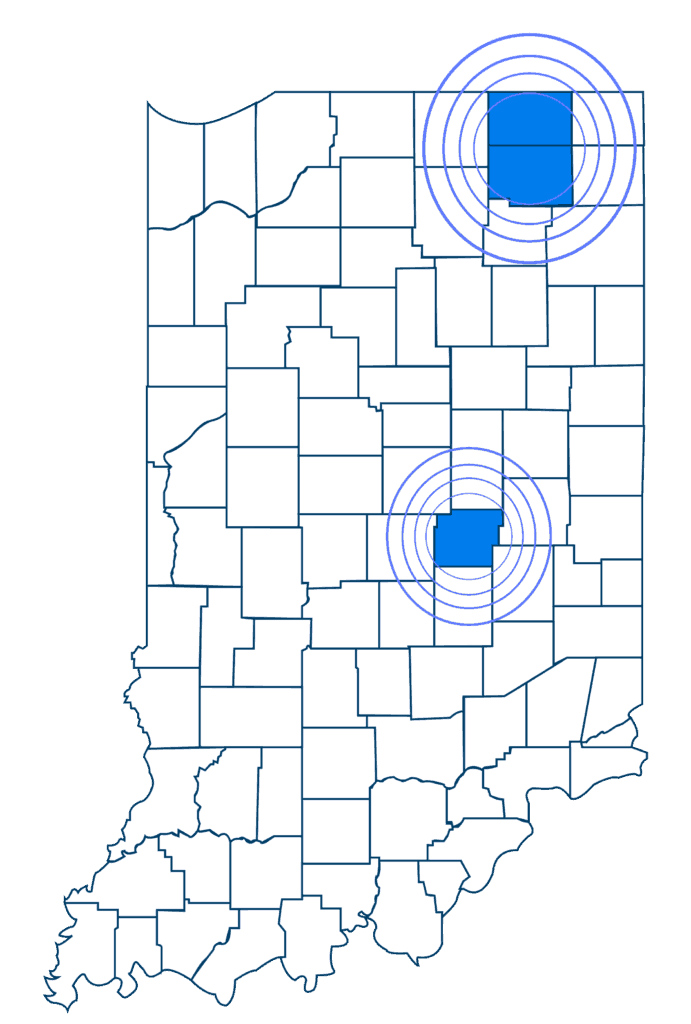 Indiana coverage map