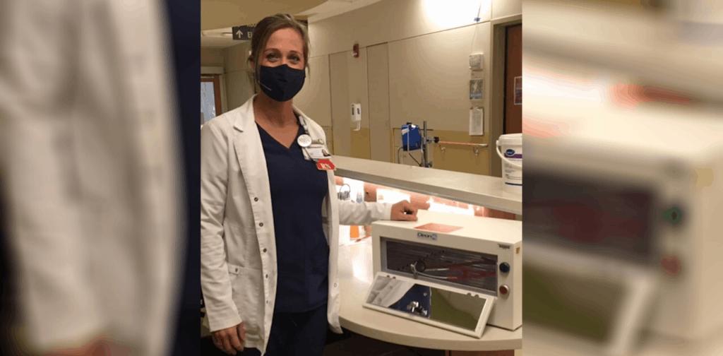 UV decontamination boxes at Good Samaritan Hospital put to work during COVID-19 1